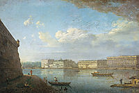View of the Palace Embankment from St. Peter-s and St. Paul-s Fortress, 1810, alekseyev