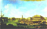 View of the Stock Exchange and the Admiralty from the Fortress of St. Peter and Paul, 1810, alekseyev