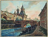 View of Vladimirskiye (Nikolskiye) Gate of Kitai gorod, c.1805, alekseyev