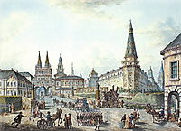 View of Voskresenskiye (Resurrection) and Nikolskiye Gates, c.1805, alekseyev