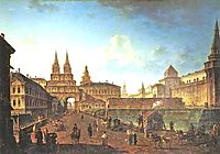 View of the Voskresensky and Nikolsky Gates and the Neglinny Bridge from Tverskay Street in Moscow, 1811, alekseyev