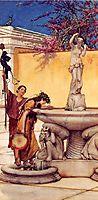 Between Venus and Bacchus, 1882, almatadema