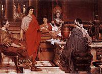 Catullus at Lesbia-s, 1865, almatadema
