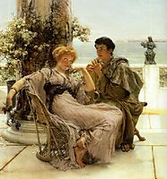 Courtship the Proposal, 1892, almatadema
