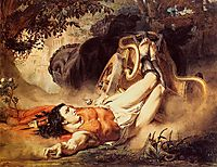 The Death of Hippolytus, 1860, almatadema