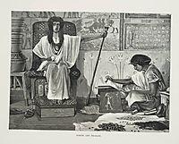 Depiction of Joseph reading to the Pharaoh, 1878, almatadema