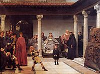 The Education of the Children of Clovis, 1861, almatadema