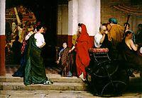 Entrance to a Roman Theatre, 1866, almatadema
