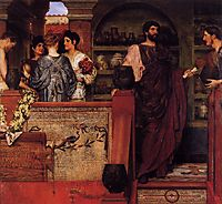Hadrian Visiting a Romano British Pottery, 1884, almatadema