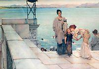 A Kiss, 1891, almatadema