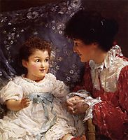 Mrs George Lewis and Her Daughter Elizabeth, 1899, almatadema