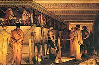 Phidias Showing the Frieze of the Parthenon to his Friends, 1868, almatadema