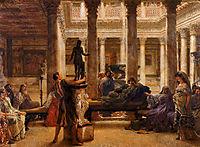 A Roman Art Lover, 1870, almatadema