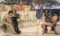 Sappho and Alcaeus, 1881, almatadema
