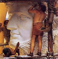 Sculptors in Ancient Rome, 1877, almatadema