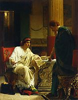 Vespasian Hearing from One of His Generals of the Taking of Jerusalem by Titus (The Dispatch), almatadema