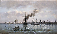 Port of Copenhagen, 1874, altamouras