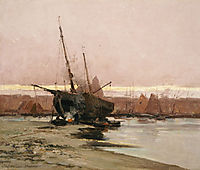 Boat at the beach , 1874, altamouras