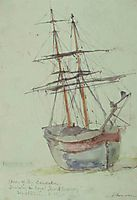 Study on the ship Esmeralda, altamouras