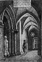 The Entrance Hall of the Regensburg Synagogue, 1519, altdorfer