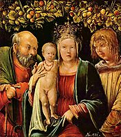 Holy Family with an Angel, 1515, altdorfer
