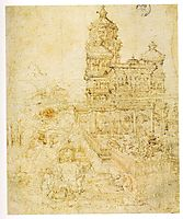 Overall sketch of the picture Susanna and the Elders, 1526, altdorfer