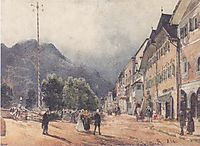 The Esplanade in Ischl, c.1840, altrudolf
