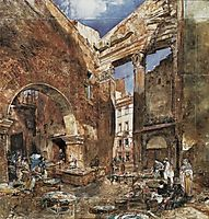 The fish market in Rome, 1865, altrudolf