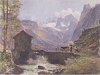 Hoher Dachstein from Lower Gosau, 1838, altrudolf