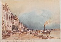 The landing site in Stein an der Donau, 1844, altrudolf
