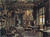 The library in the Palais Dumba, 1877, altrudolf