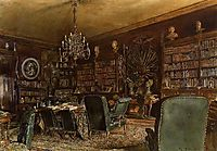 The Library of the Palais Lanckoronski, Vienna, 1881, altrudolf