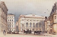 Lower Austrian country house in Vienna Viewed from Minoritenplatz, 1845, altrudolf
