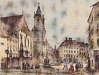 The main square in Bratislava, 1843, altrudolf