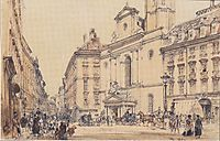 Michaelerplatz and carbon market in Vienna, 1844, altrudolf