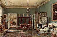 The Morning Room of the Palais Lanckoronski, Vienna, 1881, altrudolf