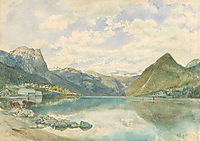 Mountain landscape with the Grundlsee, altrudolf