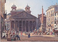 The Pantheon and the Piazza della Rotonda in Rome, 1835, altrudolf
