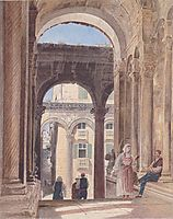 Ruins of Diocletian at Spalato, 1841, altrudolf