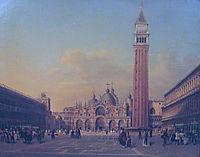 St. Mark-s Square in Venice with Austrian military, c.1860, altrudolf
