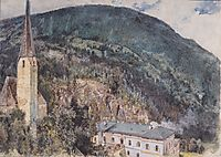 The St. Nicholas Church in Gastein, 1897, altrudolf