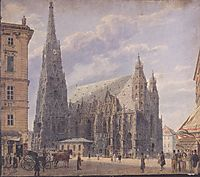The St. Stephen-s Cathedral in Vienna, 1831, altrudolf