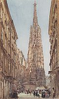 The St. Stephen-s Cathedral in Vienna, 1847, altrudolf
