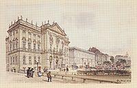 Trautson Palace in Vienna, 1845, altrudolf