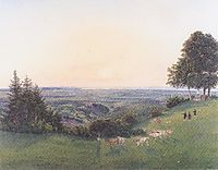 View from the chapel Rosalie, 1837, altrudolf