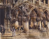 View of the Ducal Palace in Venice, 1874, altrudolf