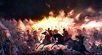 The Battle With Torches, 1891, aman