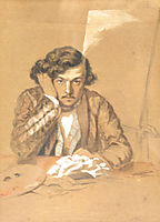 Self-Portrait, 1851, aman