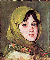 Peasant Woman with Green Headscarf, andreescu