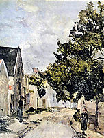Street from Barbizon during summer time, andreescu